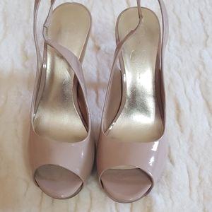 Jessica Simpson Nude Sling Back Heels